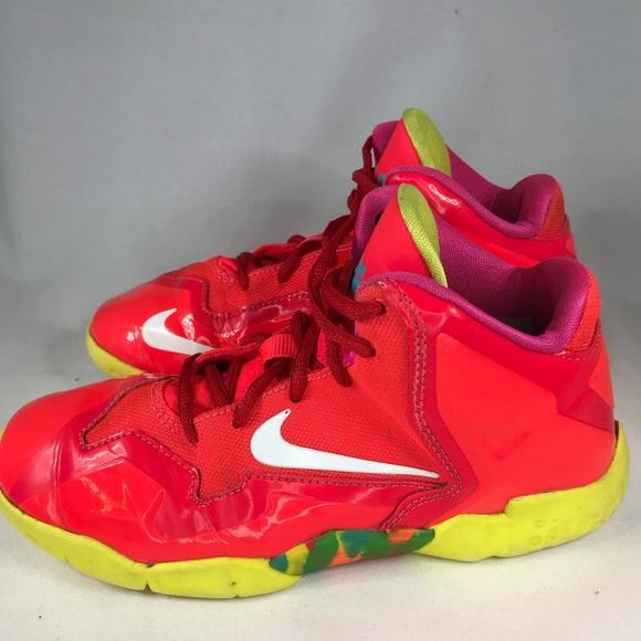 the latest 3ca86 aece3 Nike Lebron XI Fruity Pebbles Kids 1Y Basketball